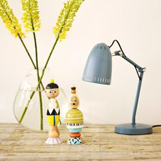 DYNAMO TABLE - Lampe à poser Gris H40cm Super Living