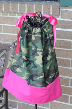 Camo Pillowcase Dress by LaLasCastle on Etsy, $20.00