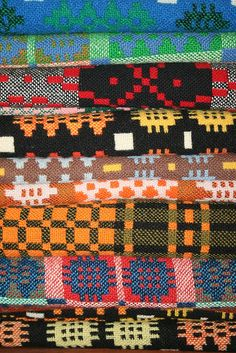 STACKED WELSH BLANKETS | I wonder if it's a Welsh blanket that I have of my Grandad's