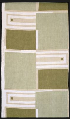 Frank Lloyd Wright (1867-1959) for  F. Schumacher and Co., c. 1955. Textile Length, linen. Los Angeles County Museum of Art.
