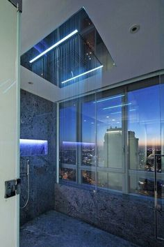 Shower with view