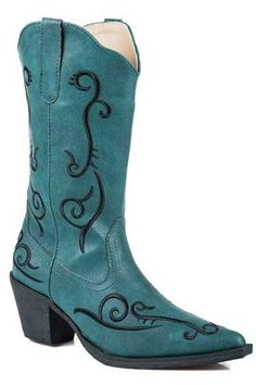 Roper Blue Fashion Boot With Embroidered Jane Boots Urban