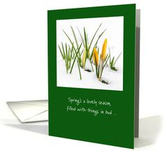 Humorous Spring Message About Mud Season card. Spring is just around the corner! send this funny note of encouragement to anyone dealing with this cold, snowy winter!