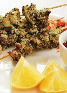 Low FODMAP Recipe and Gluten Free Recipe - Chicken & herb skewers