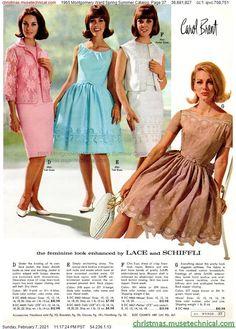 1960s Fashion Women, Retro Fashion, Vintage Fashion, Women's Fashion, Montgomery Ward, Christmas Catalogs, Vintage 1950s Dresses, Costume, Chic Dress