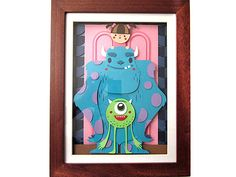 WonderGround Gallery | Sully, Mike and Boo = Besties! by Michelle Romo