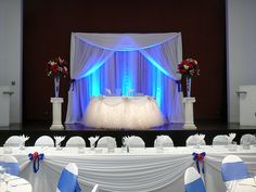 Sweetheart+Table+Backdrop | Head Table Decor at the Carson Community Center decor by SBD EVENTS ...
