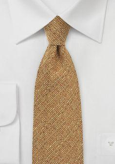 Krawatte mit Wolle strukturiert orangebraun