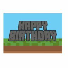 Pixel, Invitasjoner, 8 stk. Inviter venner til en skikkelig Minecraft Bursdag med disse kule Invitasjonene. Kommer med grønne konvolutter.-minecraft -bursdag -barnebursdag - fest -party Company Logo, Logos, A Logo, Legos