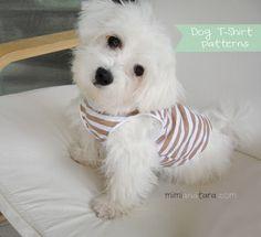 Dog T Shirt Pattern/// pattern may need translation