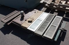 We have a pallet full of window shutters. Pretty sure that confirms Pinterest was created just for us