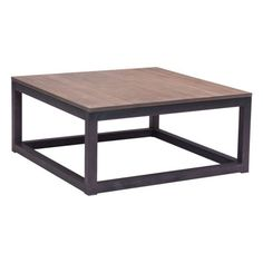 The Civie Center square coffee table offers a rustic design with rich weathered finish; made from Fir Plywood supported by antiqued metal base. Add an industrial touch to your living space. Some assembly is required
