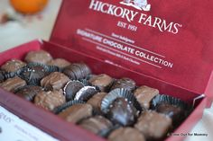 These Gourmet Chocolates from Hickory Farms are delicious!