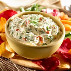 Creamy Dilled Vegetable Dip With Hellmann's Dijonnaise Creamy Dijon Mustard, Knorr® Vegetable Recipe Mix, Sour Cream, Fresh Dill