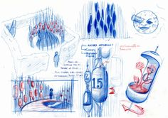 SKETCH- 2012 - Garden Festival of Chaumont - Calendar of the 7 moons