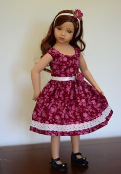 """Raspberry Autumn"" Dress Outfit Clothes for 20"" Dianna Effner Maru Friends | eBay"