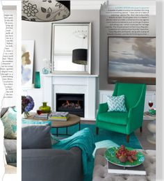 For the front living room? Love the colours. Overhead light fitting, arm chair, artwork.