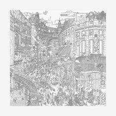 Le Grand Prix du Faubourg scarf 90 - front Turbante, Arte Di Moda, Grand 617647020d0