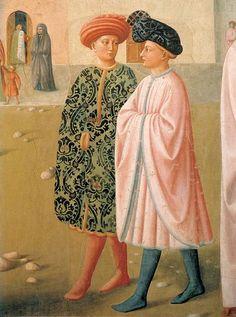 Masolino da Panicale, Guarigione dello storpio e resurrezione di Tabita (particolare),1424-1425, affresco,Firenze,Cappella Brancacci della Chiesa di Santa Maria del Carmine.