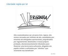 A Liberdade do cidadão brasileiro está sendo controlada pelo excesso de leis do congresso.!...