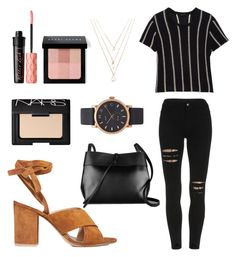 """""""Untitled #119"""" by jocelyn-painter on Polyvore featuring Gianvito Rossi, Theory, Kara, Benefit, NARS Cosmetics, Bobbi Brown Cosmetics, Forever 21 and Marc Jacobs"""
