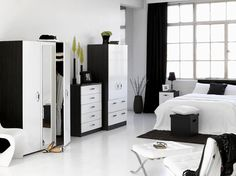 Stunning Bedroom Designs For Men With Imaginative Decoration Modern Black And White