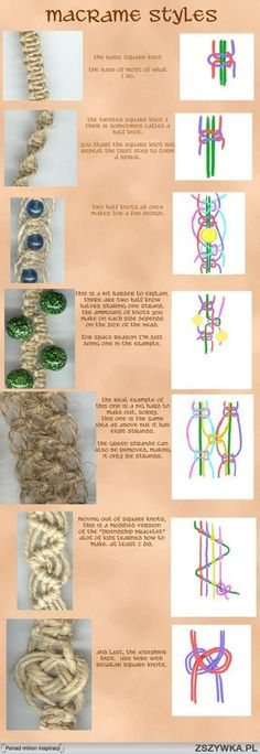 Macrame instructions for different styles