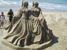 Algunas fotos arte de la arena / escultura de Puerto Vallarta que he encontrado en Internet. Más en el malecón