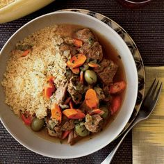 Lamb Tagine with Green Olives and Lemon