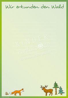 """Kindergarten Portfolio Vorlagen """"Wir erkunden den Wald"""" Kindergarten Portfolio Templates """"We explore the forest"""" Kindergarten Portfolio, Kindergarten Math, Preschool, Portfolio Website, Online Portfolio, Portfolio Design, Toddler Play, Website Themes, Classroom Management"""