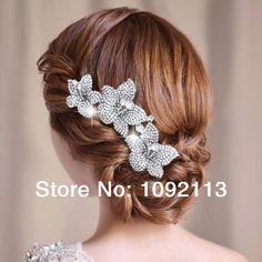 Vintage Inspirado nupcial claro da flor da margarida pentear o cabelo Bridesmaids Feitos com cristal Swarovski Elements Frete Grátis 14,90