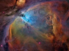 Hubble - A great poster of the Orion Nebula - where new stars are born! As seen by NASA's Hubble Space Telescope. Visit the Final Frontier with the rest of our stellar selection of Space posters! Need Poster Mounts. Carina Nebula, Orion Nebula, Helix Nebula, Andromeda Galaxy, Constellation Orion, Cosmos, Constellations, Nasa Hubble Images, Hubble Pictures