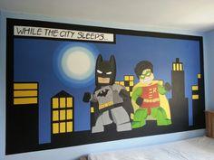 Lego batman and robin mural by me www.facebook.com/JJmurals