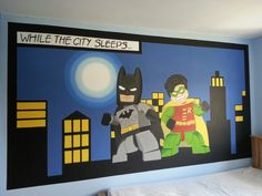 Lego batman and robin mural by me www.facebook.com/JJmurals