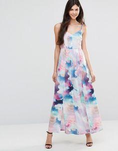 Yumi Cloud Digital Maxi Dress - Multi
