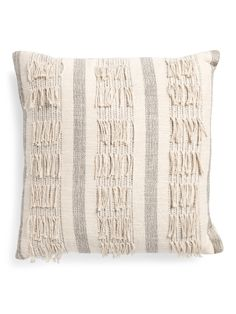 22x22 Epic Fringe Pillow | Throw Pillows | Marshalls