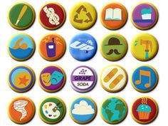 Russel's Badges! (From Pixar's UP)