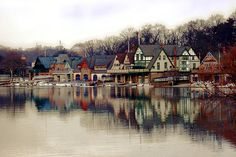 Boathouse Row Philadelphia. Sometimes good photography is simply working with what the scenery gives you. The colors on the boathouses give each building a unique and different feel, but the colors also go perfectly with the fall season. The reflection on the water doubles the effect and gives it a mirror quality. Simple but unique.