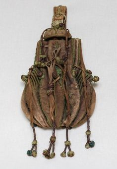 Beaded Leather Pouch, ca. 16th century via Museum...                                                                                                                                                                                 More