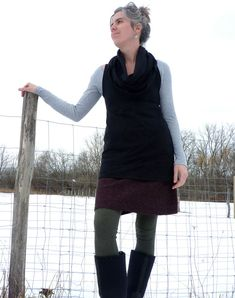Organic Clothing - Organic Cotton Sleeveless Cowl Tunic - Shown in Black - Made to Order. $85.00, via Etsy.