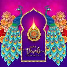 Illustration about Happy Diwali festival card with gold diya patterned and crystals on paper color Background. Illustration of diya, ethnicity, chaturthi - 119163895 Diwali Wishes, Happy Diwali, Chinese New Year 2020, Diwali Festival, Fireworks, Card Stock, How To Draw Hands, Christmas Ornaments, Patterns
