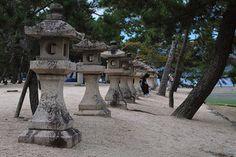 stone lanterns -miyajima