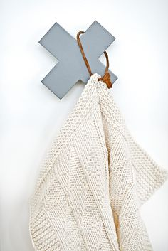 wooden crosses, hook, craft, nice hanger