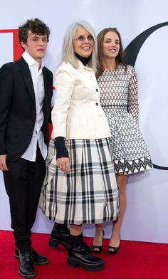 Diane Keaton was joined by her kids Dexter and Duke at the premiere of Book Club in L.A. Her kids now 23 and 18 respectively were all smiles alongside their mom.