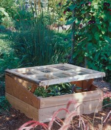 My mind is spinning to when the snow is gone.  I am thinking I want a cold frame and this appears to be a great design.