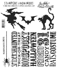 Tim Holtz Stampers Anonymous Halloween Silhouettes CMS-115 - 75,00Lt