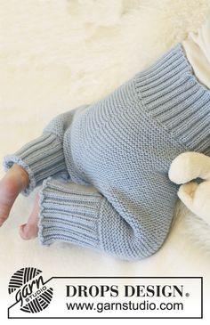 "Ainaoikeinneulotut DROPS housut ""Alpaca""-langasta. ~ DROPS Design"