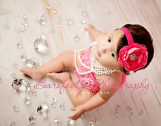 Baby Flower Headband..Baby Girl by whisperbugboutique on Etsy