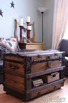 Coffee Table From An Old Trunk. See More. Trunk~