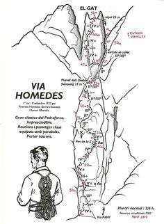 Via Homedes, 460m BDsup (El Gat, Pedraforca)